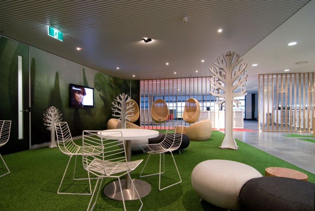 artificial grass in offices