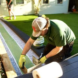 Fake Lawn Installation | The Sussex Artificial Grass Company