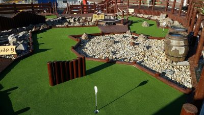 Artificial Grass for Sport in Littlehampton | Harbour Park Adventure Golf | The Sussex Artificial Grass Company