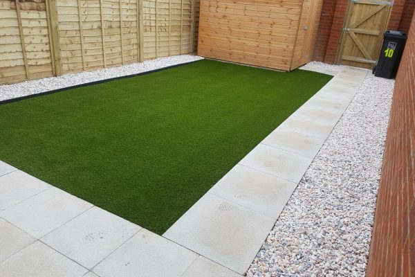 artificial grass for new builds