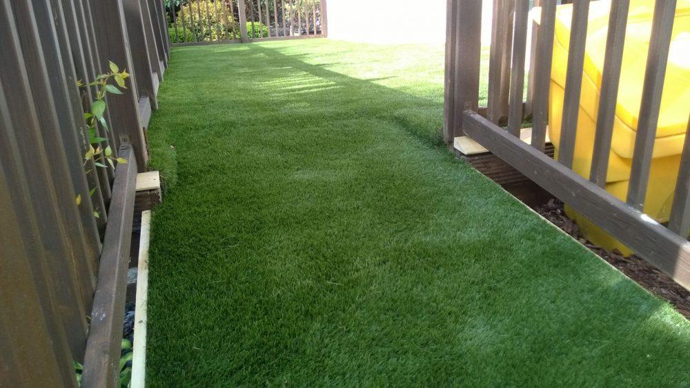 artificial grass on decking