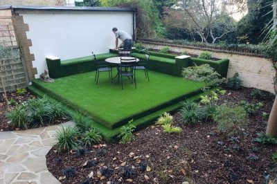 Fun Garden Design with Artificial Grass