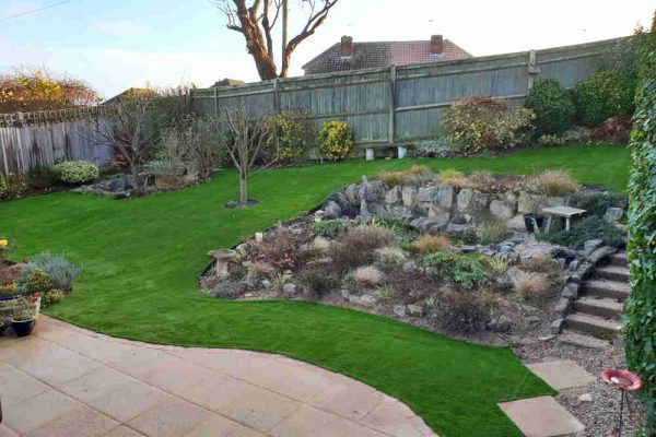 Not just flat! Artificial Grass for Hilly Gardens