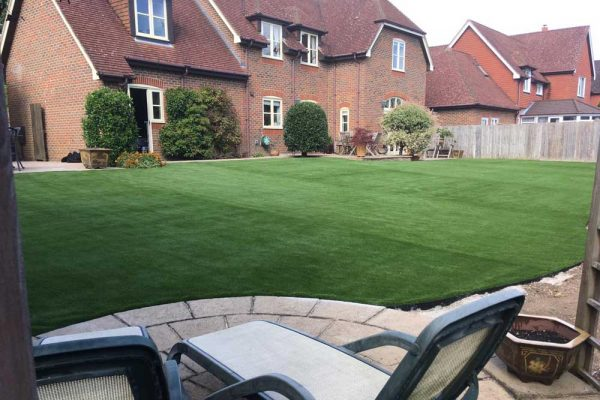 Large Garden Transformation | Sussex Artificial Grass Company
